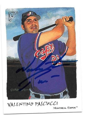 Valentino Pascucci Signed 2002 Topps Gallery Baseball Card - Montreal Expos - PastPros