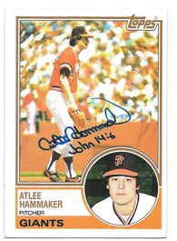Atlee Hammaker Signed 1983 Topps Baseball Card - San Francisco Giants