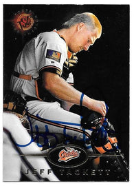 Jeff Tackett Signed 1995 Stadium Club Baseball Card - Baltimore Orioles
