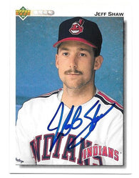 Jeff Shaw Signed 1992 Upper Deck Baseball Card - Cleveland Indians - PastPros