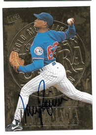 Jose Paniagua Signed 1996 Ultra Gold Medallion Baseball Card - Montreal Expos - PastPros