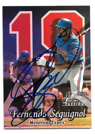 Fernando Seguinol Signed 1999 Flair Showcase Row 2 Baseball Card - Montreal Expos - PastPros