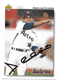 Andujar Cedeno Signed 1992 Upper Deck Baseball Card - Houston Astros - PastPros
