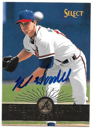 Brad Woodall Signed 1995 Select Baseball Card - Atlanta Braves