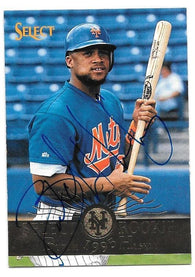 Butch Huskey Signed 1995 Select Baseball Card - New York Mets