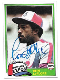 Ron Leflore Signed 1981 Topps Baseball Card - Montreal Expos - PastPros