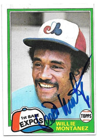 Willie Montanez Signed 1981 Topps Baseball Card - Montreal Expos - PastPros