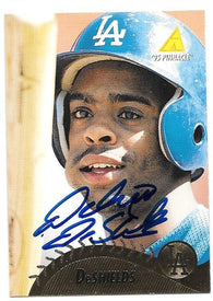 Delino Deshields Signed 1995 Pinnacle Baseball Card - Los Angeles Dodgers