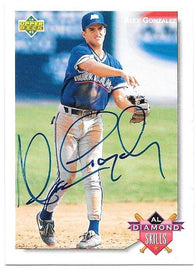 Alex Gonzalez Signed 1992 Upper Deck Minors Diamond Skills Baseball Card - Toronto Blue Jays