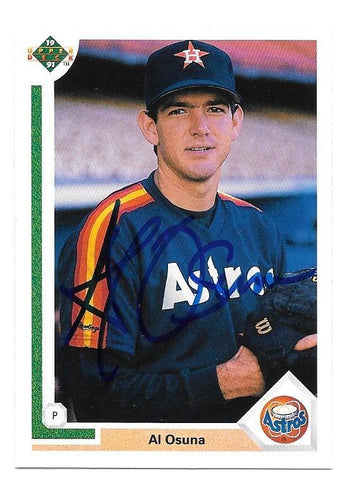 Al Osuna Signed 1991 Upper Deck Baseball Card - Houston Astros