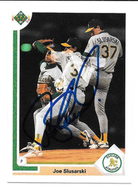 Joe Slusarski Signed 1991 Upper Deck Baseball Card - Oakland A's - PastPros