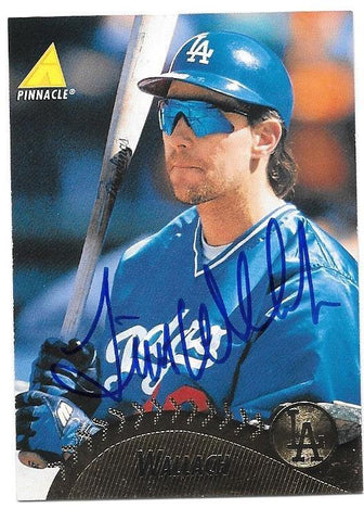 Tim Wallach Signed 1995 Pinnacle Baseball Card - Los Angeles Dodgers