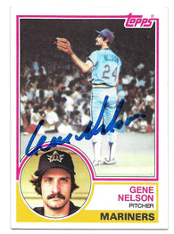 Gene Nelson Signed 1983 Topps Baseball Card - Seattle Mariners