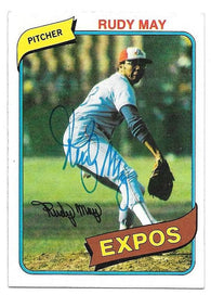 Rudy May Signed 1980 Topps Baseball Card - Montreal Expos - PastPros