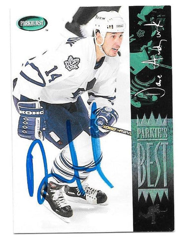 Dave Andreychuk Signed 1994-95 Parkhurst Hockey Card - Toronto Maple Leafs