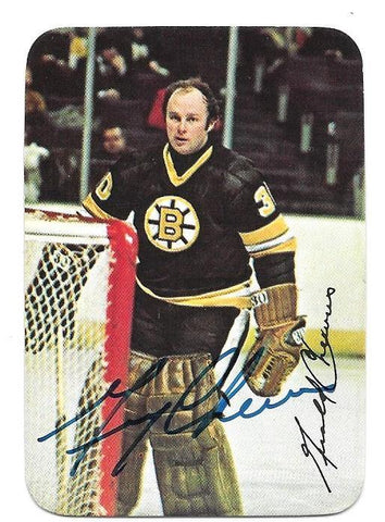 Gerry Cheevers Signed 1978-79 O-Pee-Chee Insert Hockey Card - Boston Bruins