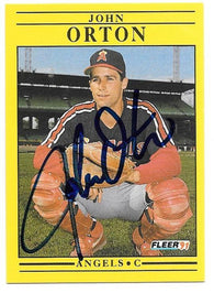 John Orton Signed 1991 Fleer Baseball Card - California Angels