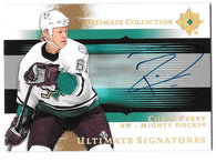 Corey Perry Signed 2005-06 Ultimate Collection Signatures Hockey Card - Anaheim Mighty Ducks