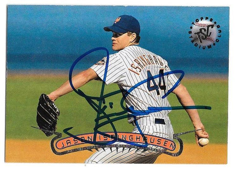 Jason Isringhausen Signed 1996 Stadium Club Baseball Card - New York Mets