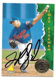 Joey Eischen Signed 1995 Pinnacle Baseball Card - Montreal Expos