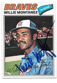 Willie Montanez Signed 1977 O-Pee-Chee Baseball Card - Atlanta Braves