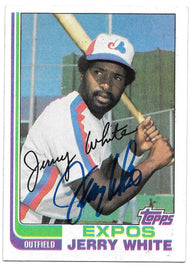 Jerry White Signed 1982 Topps Baseball Card - Montreal Expos