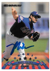 Marc Valdes Signed 1998 Donruss Baseball Card - Montreal Expos - PastPros