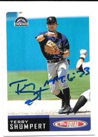 Terry Shumpert Signed 2002 Topps Total Baseball Card - Colorado Rockies - PastPros