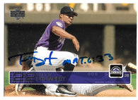 Terry Shumpert Signed 2003 Upper Deck Baseball Card - Colorado Rockies - PastPros