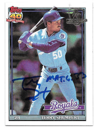 Terry Shumpert Signed 1991 Topps Desert Shield Baseball Card - Kansas City Royals - PastPros