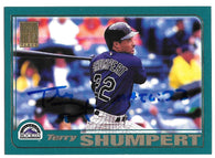 Terry Shumpert Signed 2001 Topps Baseball Card - Colorado Rockies