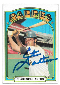 Cito Gaston Signed 1972 Topps Baseball Card - San Diego Padres