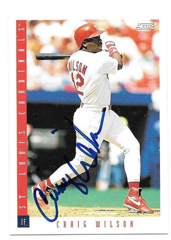 Craig Wilson Signed 1993 Score Baseball Card - St Louis Cardinals