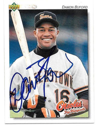 Damon Buford Signed 1992 Upper Deck Minors Baseball Card - Baltimore Orioles - PastPros