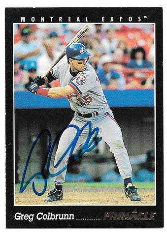 Greg Colbrunn Signed 1993 Pinnacle Baseball Card - Montreal Expos - PastPros