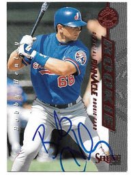 Bob Henley Signed 1997 Select Baseball Card - Montreal Expos