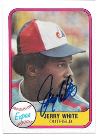 Jerry White Signed 1981 Fleer Baseball Card - Montreal Expos