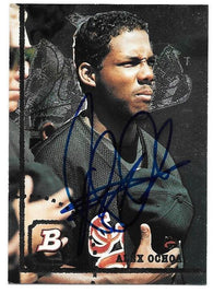 Alex Ochoa Signed 1994 Bowman Baseball Card - Baltimore Orioles