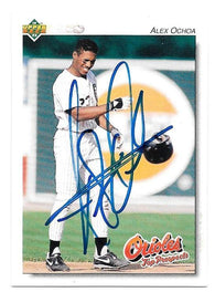 Alex Ochoa Signed 1992 Upper Deck Minors Baseball Card - Baltimore Orioles - PastPros