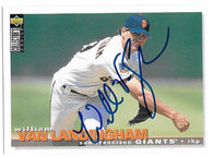 William Van Landingham Signed 1995 Collector's Choice Baseball Card - San Francisco Giants