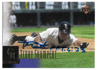 Terry Shumpert Signed 2001 Upper Deck Baseball Card - Colorado Rockies - PastPros