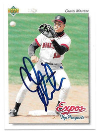 Chris Martin Signed 1992 Upper Deck Minors Baseball Card - Montreal Expos - PastPros