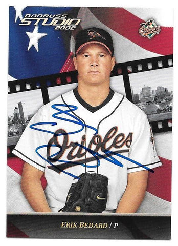 Erik Bedard Signed 2002 Donruss Studio Baseball Card - Baltimore Orioles