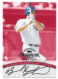Brooks Kieschnick Signed 1997 Donruss Signature Series Baseball Card - Chicago Cubs