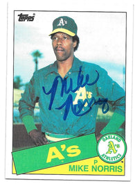 Mike Norris Signed 1985 Topps Baseball Card - Oakland A's
