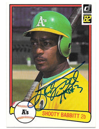 Shooty Babitt Signed 1982 Donruss Baseball Card - Oakland A's