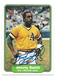 Shooty Babitt Signed 1982 Fleer Baseball Card - Oakland A's