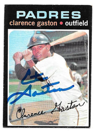 Cito Gaston Signed 1971 Topps Baseball Card - San Diego Padres