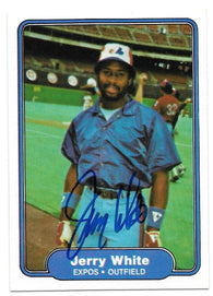 Jerry White Signed 1982 Fleer Baseball Card - Montreal Expos