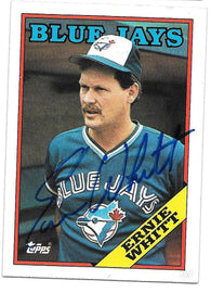Ernie Whitt Signed 1988 Topps Baseball Card - Toronto Blue Jays
